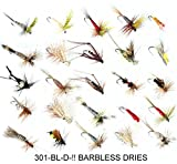 25 BARBLESS Trout DRY fly fishing flies DRIES SIZES 10 12 OR 14 SIZE Hooks (Hook size BL12)