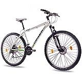 73,66 cm aluminio bicicleta de montaña bicicleta CHRISSON bateador SF UNISEX con 24 G 2 x disco SHIMANO SCHWALBE blanco