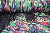 Fabrics-City SCHWARZ/BUNT WASSERABWEISEND DOUBLEFACE