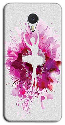 Mixroom - Cover Custodia Case In TPU Silicone Morbida Per Meizu M5S Z422 Ballerina Schizzi Fucsia