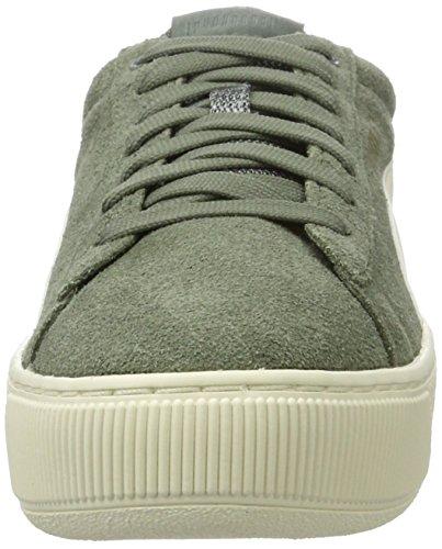 Puma Vikky Platform D, Sneakers Basses Femme, Vert (Agave Green-Metallic Gold-Whisper White), 40 EU