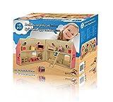 Marionette Wooden Toys - Casa Di Bambole In Legno Con Serratura Mobili Accessori