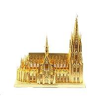 XINGYAN Modelo De Metal 3D, Bricolaje Ensamble De Modelos De Construcción para Adultos Colección Soporte De Exhibición De Rompecabezas De Corte Láser - Catedral De Colonia