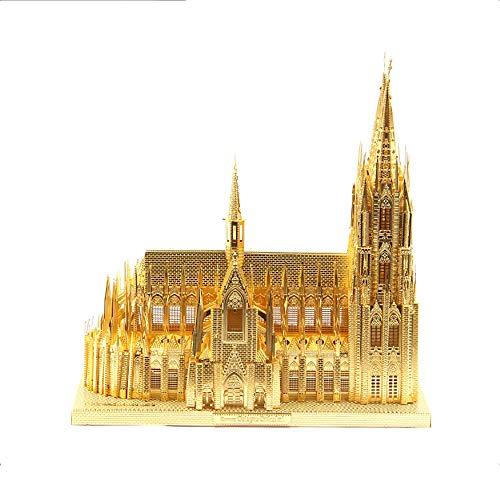 XINGYAN 3Dpuzzle Metall DIY Montieren Erwachsene Bau Modell Kits Laser Geschnitten Puzzle Ausstellungsstand Geschenk Jahrestag Geschenk Sammlung - Kölner Dom - Erwachsenen-modell-kits