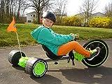 Go-Kart Huffy Green Maschine für Kinder mit Bremse Alloy und mit Zwei Befehlungs Joysticks Grün 85% Zusammengebaut