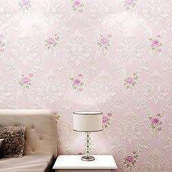 Papel pintado no tejido pastoral caliente buen dormitorio matrimonio habitación romántico salón papel de pared de fondo TV , elegant purple