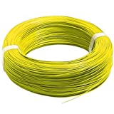 #8: Silicone Wire 18 AWG Yellow 1 Meter