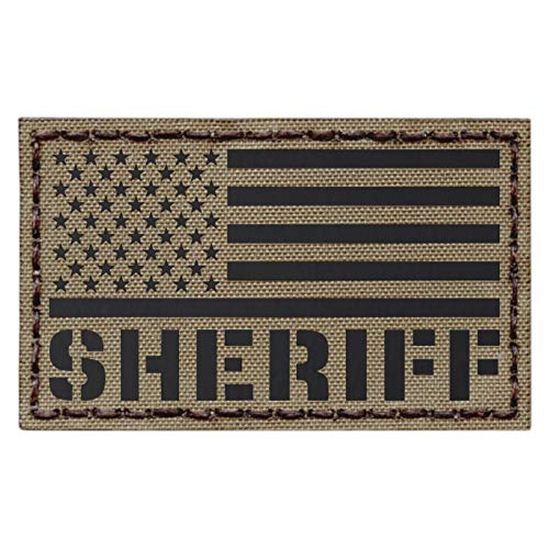 Big 3x5 Tan Infrared IR USA American Flag IFF Tactical Morale Fastener Patch - Big 3x5 Flag