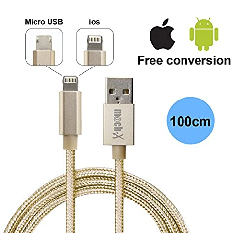 NPET Multi Charger High Speed Charge 2-in-1 USBCable Data Line One Plug Cable For Android And