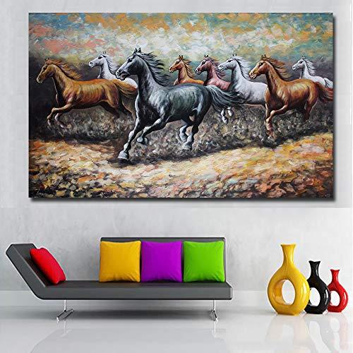 Nebel Leinwand Kunst Malerei moderne Poster drucken Wohnzimmer rote Wolke dekorative Malerei (kein Rahmen) A5 20x35CM ()