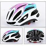 HUOFEIKE Profi-Fahrradhelm, Radhelm, Mountainbike-Lüftung und winddichtem Adjustable Head Size Sports Fahrradhelm, Male/Female,Pink