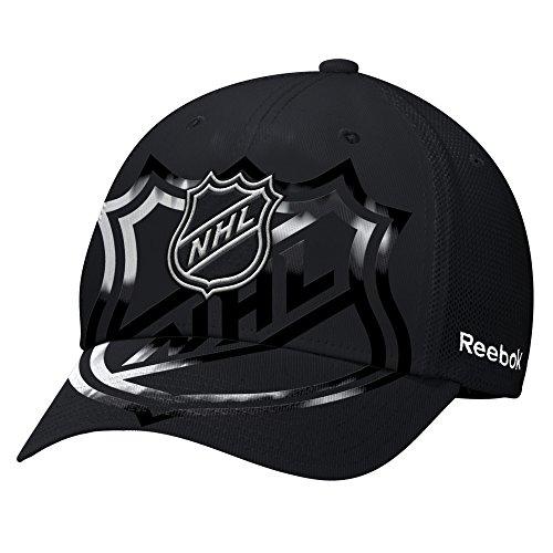 Reebok NHL 2017All-Star, strukturierte Flex Hat, Unisex - Erwachsene, NHL 2017 All-Star Structured Flex Hat, schwarz, Small/Medium -