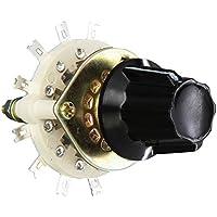 Sourcingmap a13061000ux0442 - Selector de conmutador giratorio 3p3t pomo de plástico 3 polos 3 tiro canal de banda