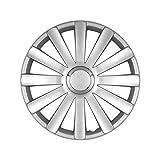 Lot de 4 enjoliveurs de roues 17 pouces SPYDER argent look Audi