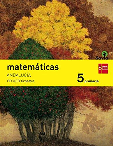 Matemáticas 5 Primaria Savia AndalucíaPack de 3 libros