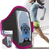 iTALKonline Samsung i9600 Galaxy S5 SV Plus Rose Noir réglable eau / résistant à l'humidité Sport GYM Jogging Arm Band Brassard couverture de cas avec l'argent de poche casque Key