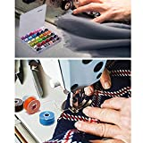 YEQIN 36Pcs Bobbins and Sewing Threads with Bobbin Case and Bobbin Clamps for Multiple Sewing Machine, Pre-Wound Bobbins Set Standard Size and Assorted Colors for Brother, BabyLock, Janome, Elna