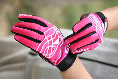 Lerway Winter MTB Handschuhe Gepolstert Race Fahrrad Handschuhe Sporthandschuhe für Radsport ,Outdoor Sport Mountainbike Damen und Herren Gloves (L, Heiß Rosa)