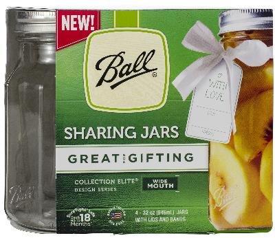 de Mouth Sharing Jars 4/Pkg-Quart, 32oz ()