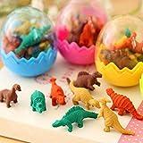 Gwill 48 STÃœCKE Mini Radiergummi Nette Dinosaurier Ei Radiergummi Schule Schreibwaren Brobedarf Zufllige Farbe 5 * 4 cm