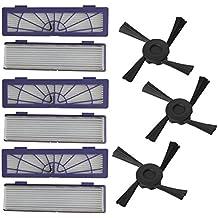 Pulizia Robot Kit di ricambio Parte - Kingwo robot di pulizia di accessori Da 6PC 3PC spazzole laterali Sostituzione Filtro + per Neato Botvac 70e 75 80 85 , Spediremo da DHL