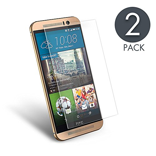 aimake-2-pack-premium-tempered-glass-screen-protector-for-htc-one-m9-033mm-hd-ultra-clear