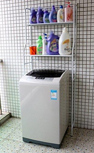 Anna scaffali mensola multifunzione per lavanderia per stoccaggio per rack stand per pavimento facile da sistemare per ripiani di lavanderia