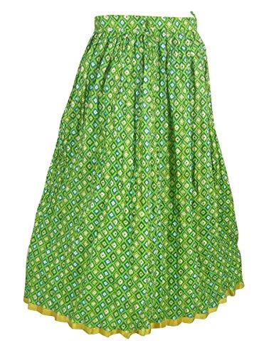 Multicolore Imprimé Coton Été Jupe Inde Robes Multicolore5