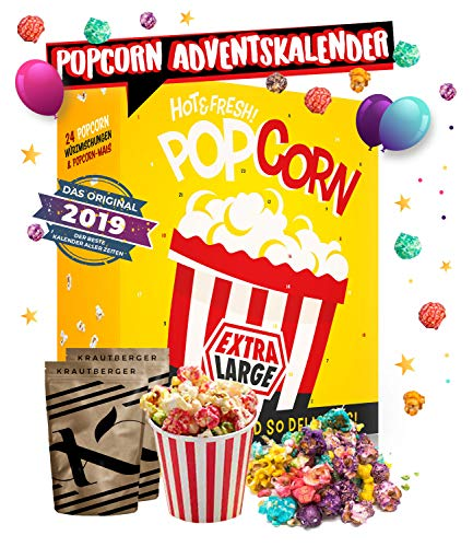 Popcorn Adventskalender I verschiedene Geschmacksrichtungen Popcorn probieren I Adventskalender für alle Film- & Serien Junkies I perfekt für die Adventszeit