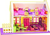 #8: SUPER TOYS Beautiful Doll House Play Set 34 Pieces - Play House for Kids