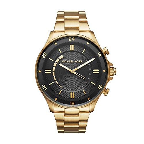 Michael Kors Herren Analog Quarz Uhr mit Edelstahl Armband MKT4014