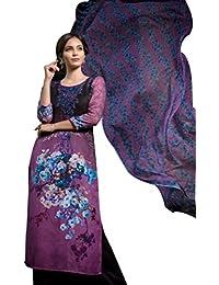 Rosaniya Un-stitched Good Quality PASHMINA Wool Embroided Patch, Self Printed, Digital Printed Kurta For Women... - B077L6Y4B7