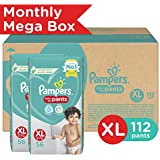 Pampers New Diaper Pants Monthly Box Pack, XL, 112 Count