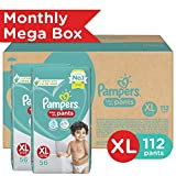 Pampers Monthly Mega Box Air Channels XL Diapers (112 Pieces)