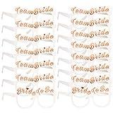 Konsait Enterrement Team mariée Or Rose Lunettes X 16, 2 Bride + 14 Team mariée Lunettes EVJF Photobooth Mariage Décoration déguisement Enterrement de Vie de Jeune Fille Accessoires...