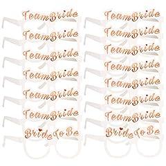 Idea Regalo - Konsait Addio al Nubilato Gadget, 16 Addio al Nubilato Amiche Giochi Sposa Occhiali Photo Booth, 2 Bride + 14 Team Bride per Addio al Nubilato Hen Feste Notte Doccia Nuziale Decorazione