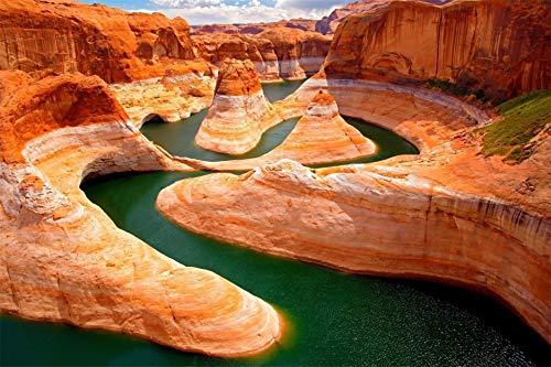 1000 Teile Puzzle, Kinder Puzzles Lernspielzeug für Kinder Erwachsene Puzzles, Grand Canyon, Colorado River -