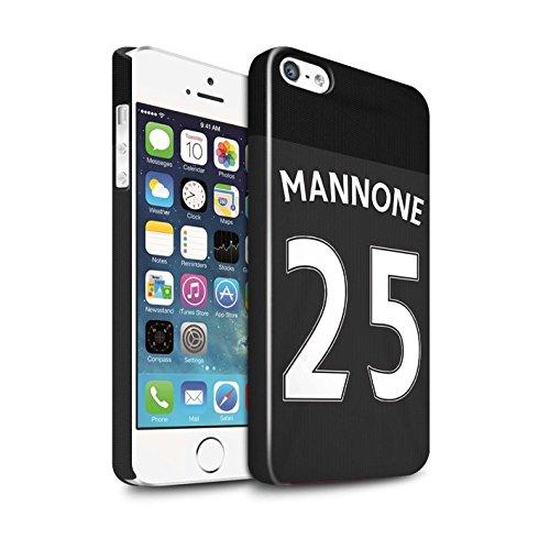 Offiziell Sunderland AFC Hülle / Glanz Snap-On Case für Apple iPhone SE / Pack 24pcs Muster / SAFC Trikot Away 15/16 Kollektion Mannone