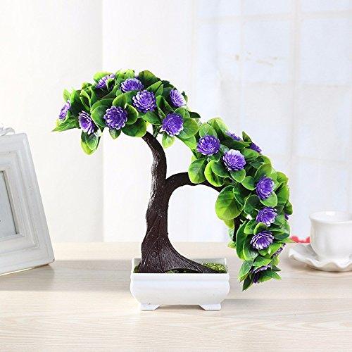 GBHNJ Artificial Flower GBHNJ Faux Fleurs Cadeau Table Basse Gala Simulation Plantes En Pot Decoration Plastique Plantes Acacia Purple