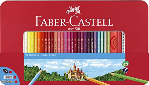 Faber-Castell 115894 - Buntstift hexagonal 60er Metalletui