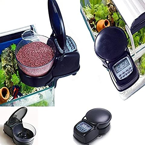 Moppi Alimentatore automatico di pesci dell'acquario distributore digitale 4 timer