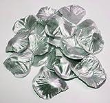 500 silberne Rosenblätter Silber-Hochzeit Deko Streublätter