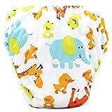 Topgrowth Cover Pannolini Lavabili Neonato Bambini Riutilizzabili Costumi da Bagno Carino Stampato Pantaloni da Nuoto per 0-3 Anni (05)