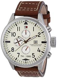 Tommy Hilfiger Watches 1790684 de cuarzo, correa de piel color marrón