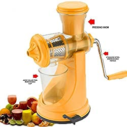 Magikware Fruit & Vegetable Juicer Mixer Grinder with Waste Collector, Yellow