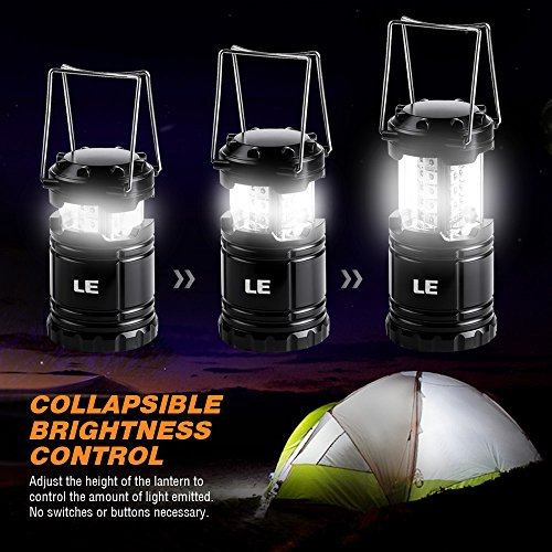51Ekg9zmzOL. SS500  - LE Portable LED Camping Lantern Outdoor 30 LEDs Flashlights IPX4 Water Resistant Lamp Battery Powered Light for Home Garden Hiking Fishing Emergency (2 Packs)