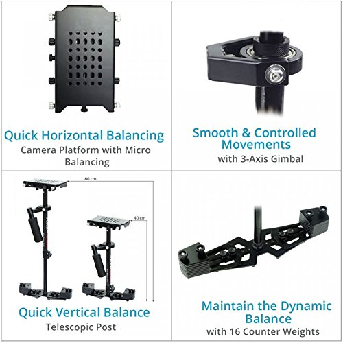 FLYCAM HD-3000 Camera Steadycam Stabilizer System with Comfort Arm and Vest for DSLR Video Camcorder up to 3.5kg/ 7.7lb | FREE Unico Quick Release & Table Clamp + Carrying Bag (CMFT-HD3) Reviews