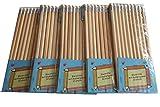 Bleistift SET, 50 Stück Bleistifte mit Radiergummi (naturfarben)