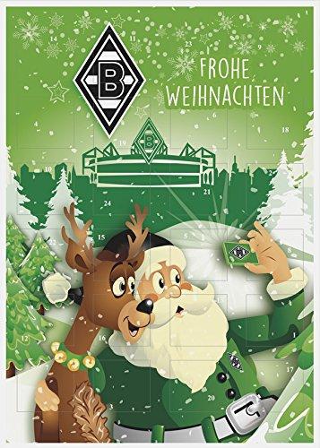 Schon jetzt bestellen - begrenzte Stückzahl vorrätig Adventskalender gefüllt offizielles Borussia M Gladbach Lizenzprodukt Masse: 35 x 25 x 1,5 cm Vor Wärme schützen Kühl und trocken lagern.