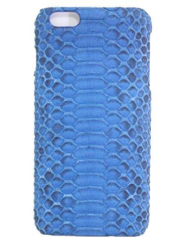 Minifamily® Blau Echtes Python Schlange Schlange Haut Leder Telefon Schutz Muschel Etui Schale für Apple iPhone 6/6s / 6 Plus 5,5 Zoll / iPhone 7/7 Plus (iPhone 7 Plus 5,5 Zoll) -